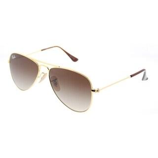Ray-Ban Aviator RJ 9506S 223/13 Unisex Gold Frame Brown Gradient Lens Sunglasses