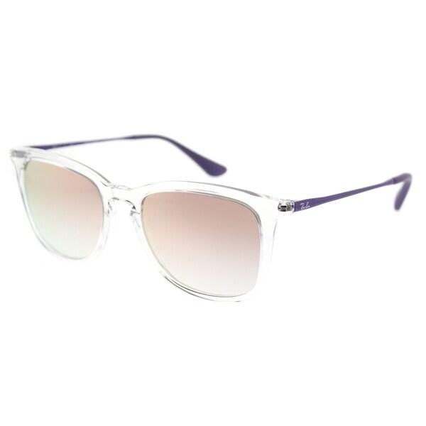 5da12a8f52 ... netherlands ray ban square rj 9063s 7030b9 childrens trasparent frame  pink mirror lens sunglasses 3d09b c64ff