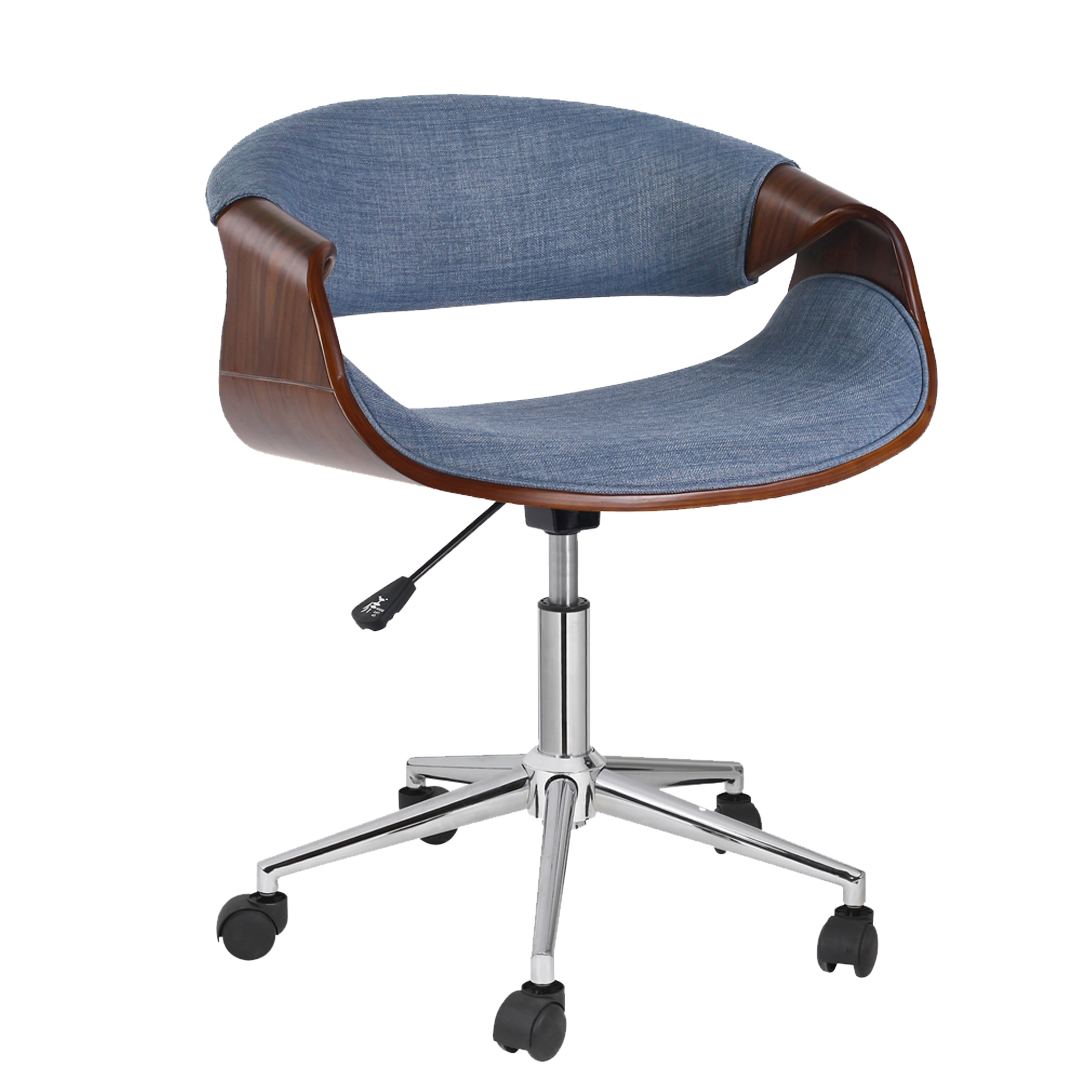 Porthos Home Adjule Office Chair With Fabric Upholstery And Wheels