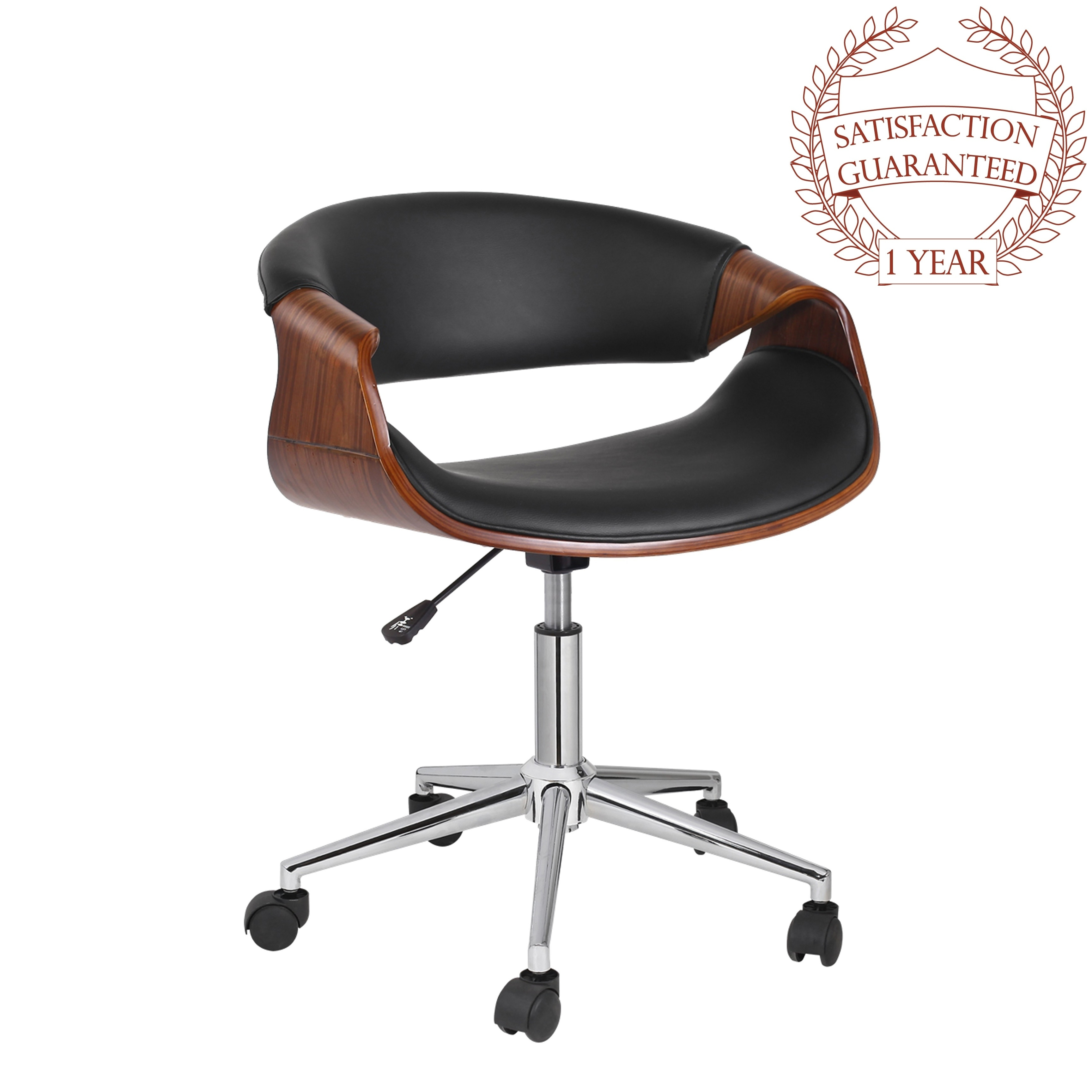 Porthos Home Adjule Office Chair With 360 Degree Swivel And