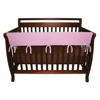 CribWrap® Wide 1 Long Pink Fleece Rail Cover