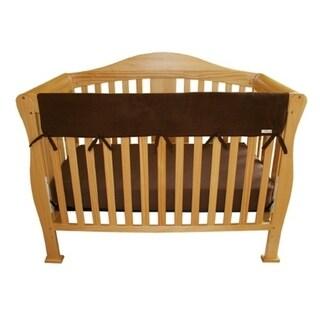 CribWrap® Wide 1 Long Brown Fleece Rail Cover