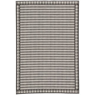 Nikki Chu by Jaipur Living Melon Silver/Black Geometric Indoor/Outdoor Area Rug (5'3 x 7'6)