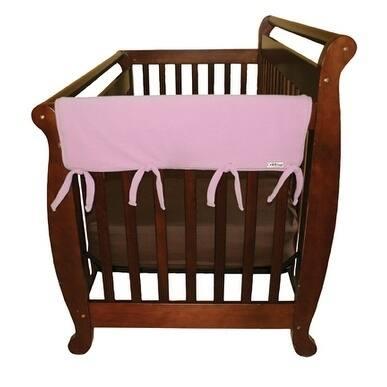 CribWrap® Wide 2 Short Pink Fleece Rail Covers