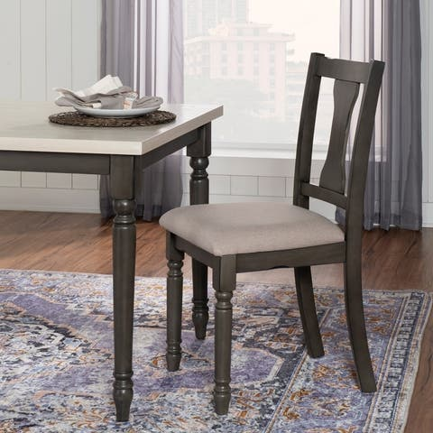 Powell Willow Wood Side Chair - N/A