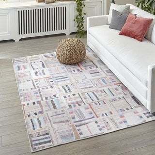 Momeni Afshar Machine Made Polyester Multi Area Rug - 5' x 7'6""