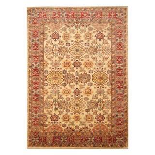 Handmade Herat Oriental Afghan Hand-knotted Super Kazak Wool Rug (5'7 x 8')