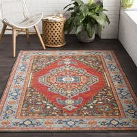The Curated Nomad Mariposa Blue Traditional Oriental Area Rug - 2' x 3'