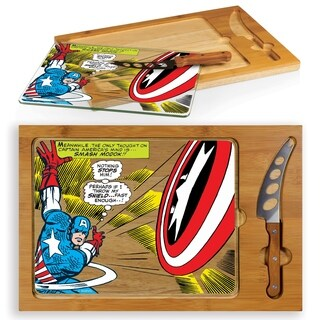 Captain America - Icon Glass Top Serving Tray & Knife Set