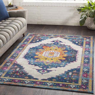"Furaha Blue Oriental Traditional Area Rug (5'3 x 7'6) - 5'3"" x 7'6"""
