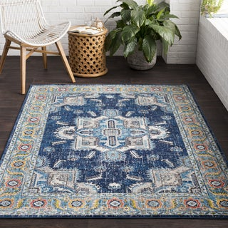 Vapouria Blue Classic Traditional Area Rug (2' x 3') - Thumbnail 0