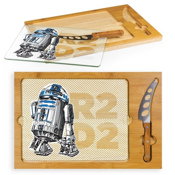 R2-D2 - Icon Glass Top Serving Tray & Knife Set