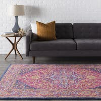 Hali Bright Magenta Persian Area Rug (6'7 x 9') - 6'7 x 9'
