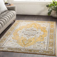 Ikaika Oriental Traditional Yellow Area Rug