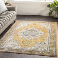 "Ikaika Oriental Traditional Yellow Area Rug - 7'10"" x 10'3"""