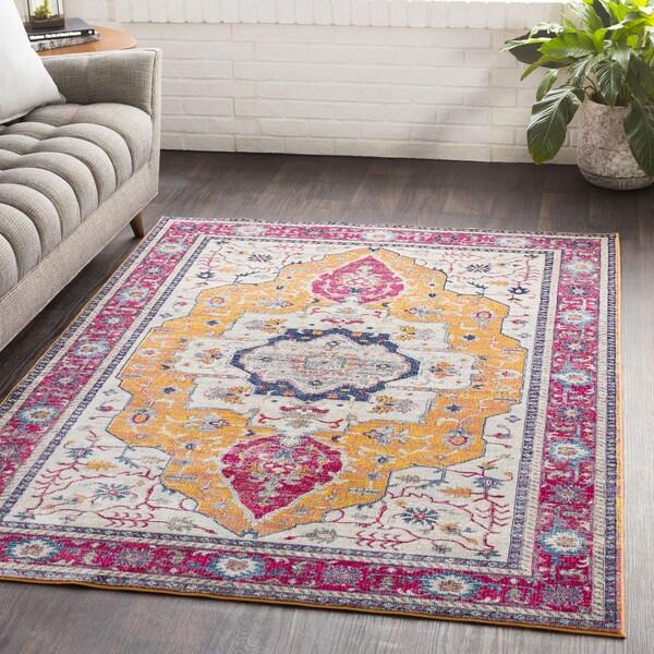 "Ikaika Pink Oriental Traditional Area Rug (7'10 x 10'3) - 7'10"" x 10'3"""