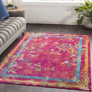 "Leoncio Solid Pink Traditional Area Rug - 7'10"" x 10'3"""