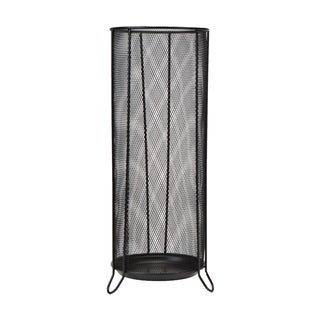 Mind Reader Metal Mesh Umbrella Holder, Black