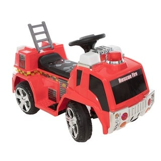 6V Rescue Fire Truck - Red