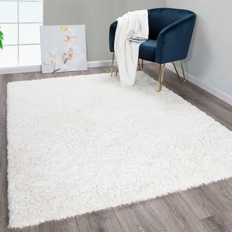Flokati Soft High Pile Height Solid Design Area Rug