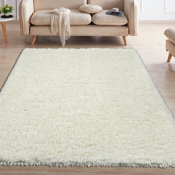 Flokati Soft High Pile Height Solid Design Area Rug