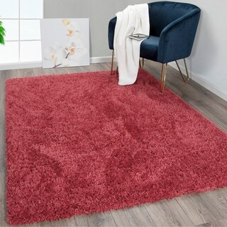 Ottomanson Pure Fuzzy Flokati Soft High Pile Faux Sheepskin Area Rug (5' x 7')