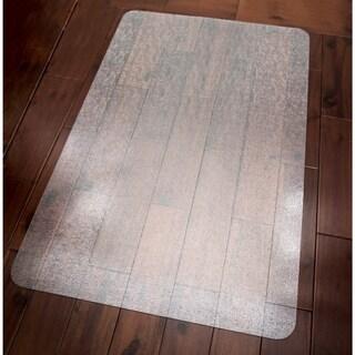 "Ottomanson Hard Floor Chair Mat Clear Plastic Mat Protector, (36"" x 48"")"