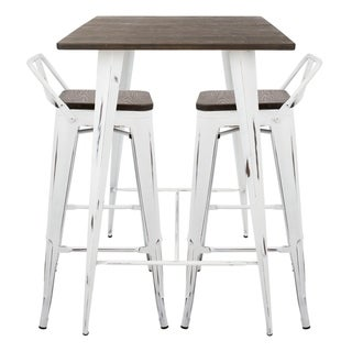 Carbon Loft Samira 3-piece Industrial Low Back Pub Set