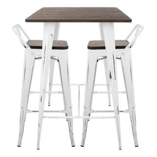 Oregon 3-Piece Industrial Low Back Pub Set  sc 1 st  Overstock & Bar u0026 Pub Table Sets For Less | Overstock.com