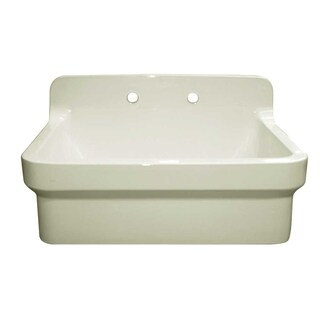 Old Fashioned Country Farmhaus White Clay Sink (Option: Off-White)