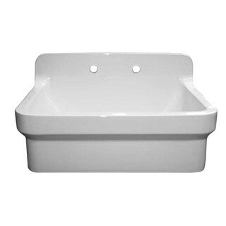 Old Fashioned Country Farmhaus White Clay Sink