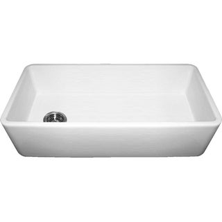 Farmhaus Fireclay Duet Series Reversible Single-bowl Sink with Smooth Front Apron
