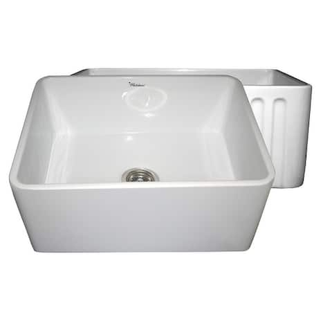 Whitehaus Collection Reversible Fireclay Sink