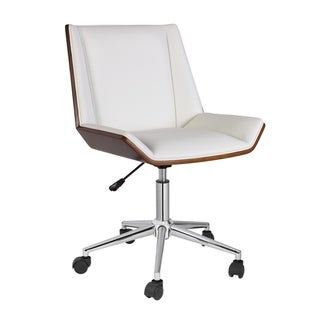 Porthos Home Office Chair With PVC Upholstery And Adjustable Height