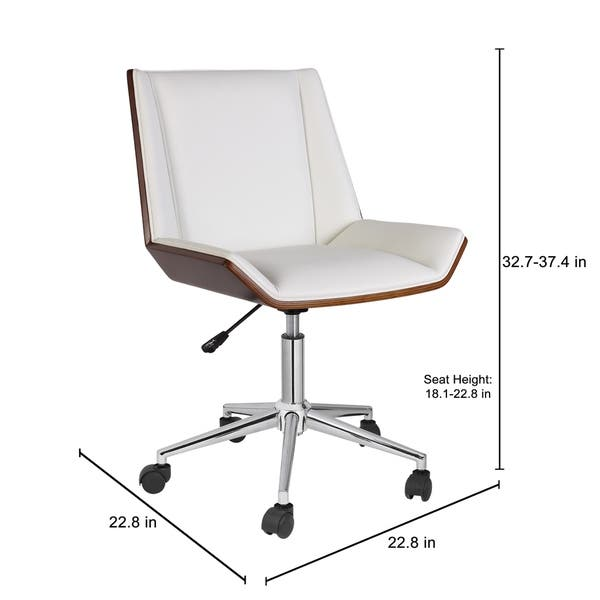 Shop Porthos Home Office Chair With Pvc Upholstery And Adjustable Height On Sale Overstock 18225314