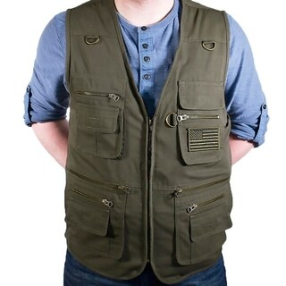 Bluestone Olive Concealment Vest/ Fishing Vest/ Hunting Vest/ Hiking Vest/ Photography Vest