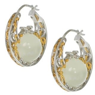 Michael Valitutti Palladium Silver Drilled White Moonstone Beaded Earrings