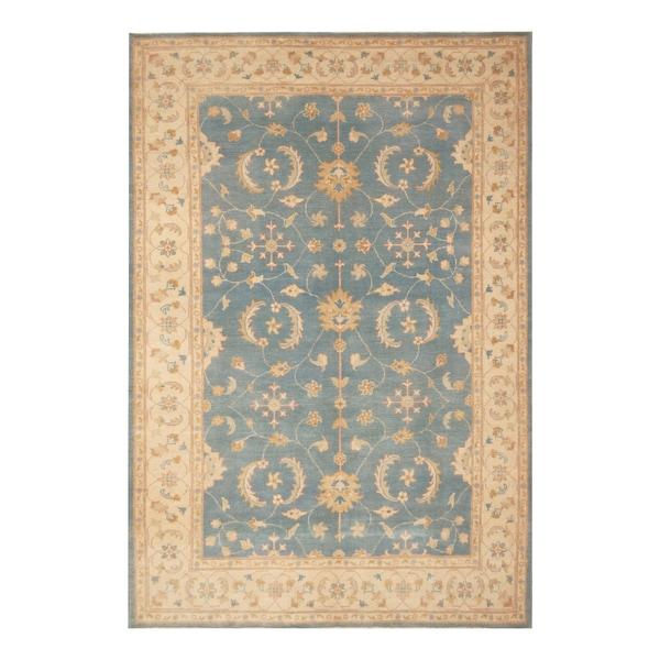 Handmade Vegetable Dye Oushak Wool Rug (Afghanistan) - 6'2 x 9'