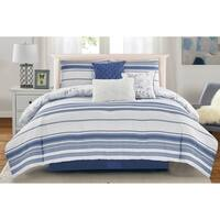 Wonder Home Brook 7PC Yarn Dye Printed Comforter Set