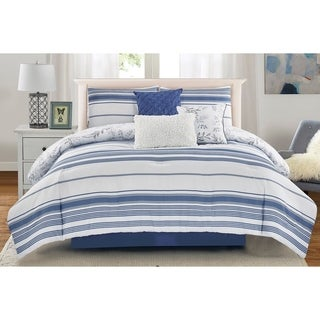 Wonder Home Brook 7PC Yarn Dye Printed Comforter Set