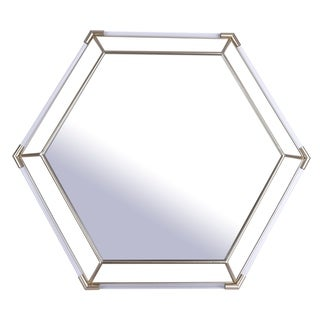 33.5x29 TUBULAR III, Decorative Mirror - Gold - 33.5x29x1.5