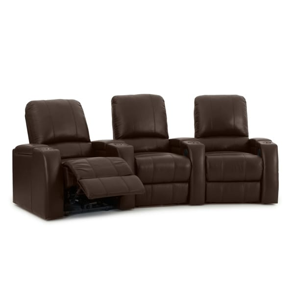 Octane Storm XL850 Manual Leather Home Theater Seating Set (Row of 3)
