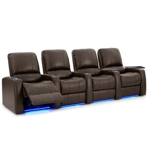 Octane Blaze XL900 Power Leather Home Theater Seating Set (Row of 4)