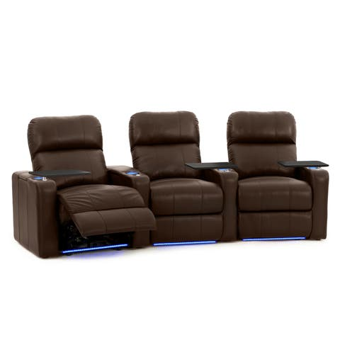 Octane Turbo Xl700 Leather Home Theater Seating Set Row Of 3