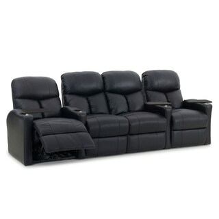Octane Bolt XS400 Black Leather 4-seat Power Home Theater Seating Set