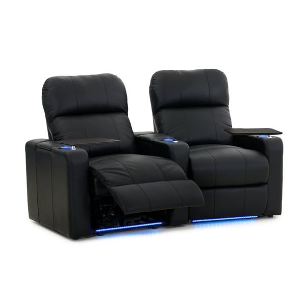 Shop Octane Turbo Xl700 Power Leather Home Theater Seating