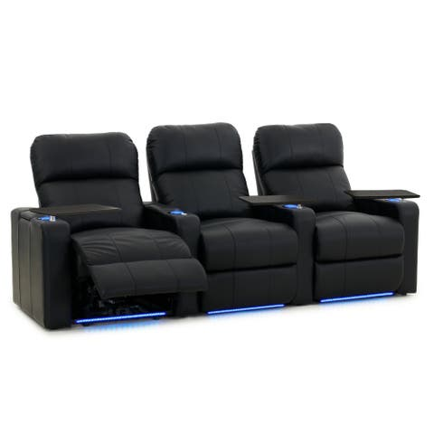 Octane Turbo XL700 Power Leather Home Theater Seating Set (Row of 3)