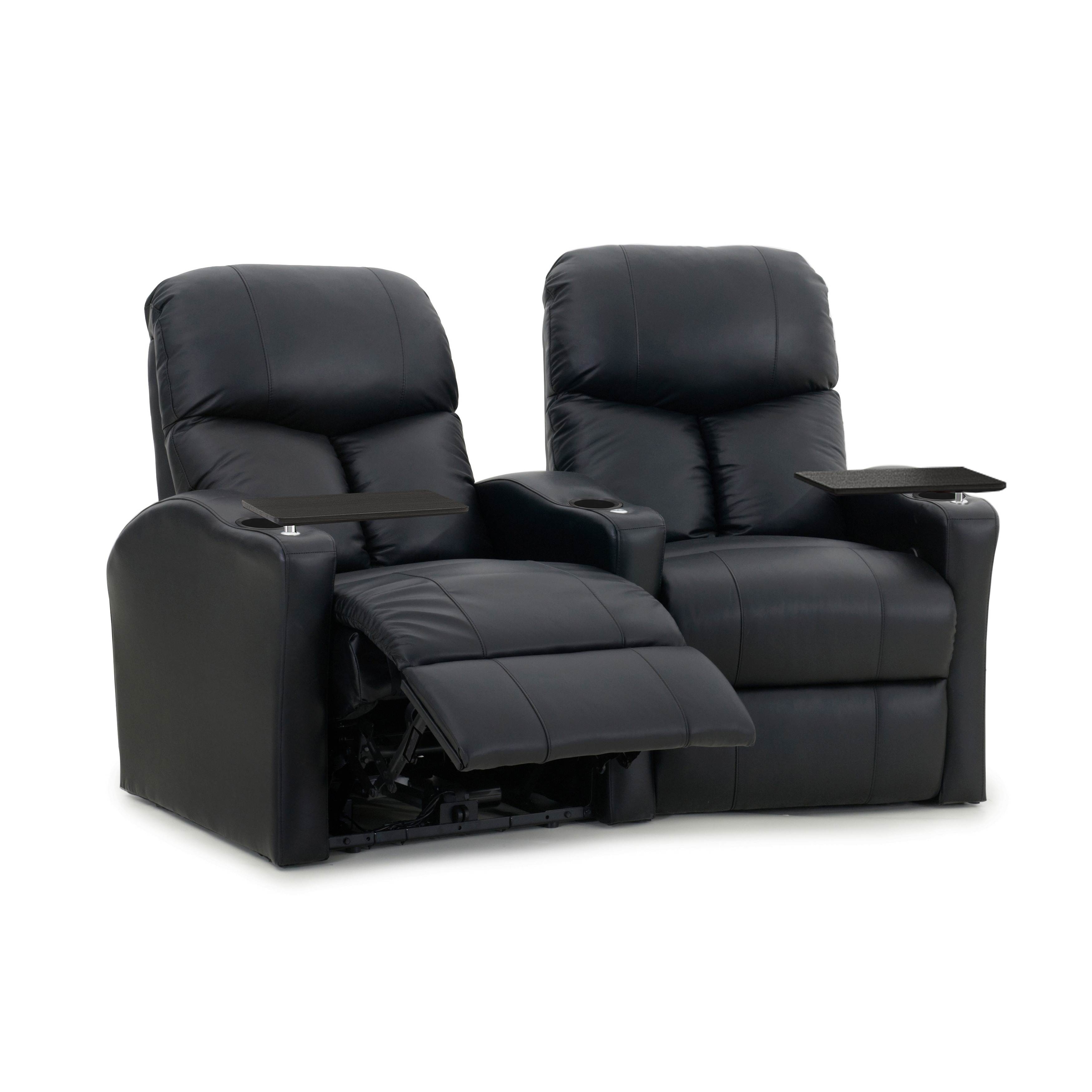 Octane Bolt XS400 Power Black Leather Home Theater Seatin...