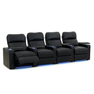 Octane Turbo XL700 Power Leather Home Theater Seating Set (Row of 4)