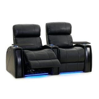 Octane Nitro XL750 Power Leather Recliner Home Theater Seating Set (Row of 2)